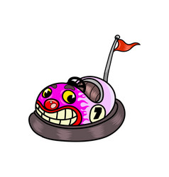 Funny cartoon bumper car vector