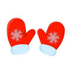 glove xmas isolated icon cartoon style for vector image
