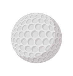 Golf ball cartoon icon vector image