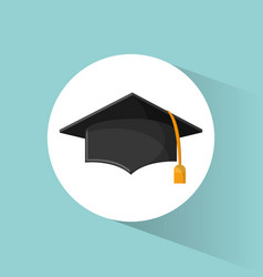 graduation cap education symbol vector image