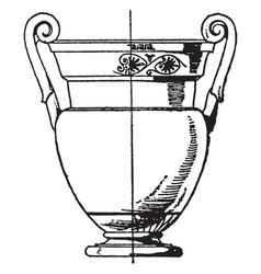 greek krater has volute handles that spiral vector image
