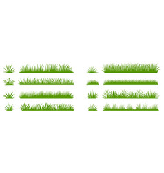 green grass silhouette cartoon lines plants vector image