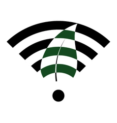 Green wifi vector