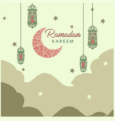 hand drawn ramadan celebration concept vector image