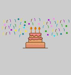 Happy birth day flat design logo vector
