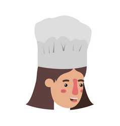 head woman cook avatar character vector image