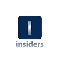 insiders square initial letter i logo concept vector image