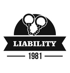 Liability logo simple black style vector
