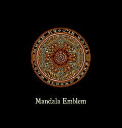 Mandala emblem vector