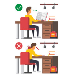 Neck pain office syndrome vector