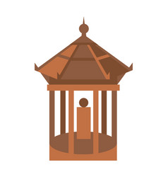 Old temple isolated icon vector