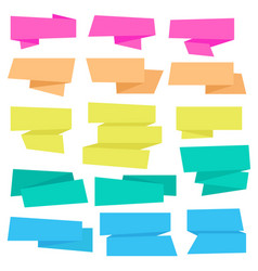 Origami ribbons collection vector