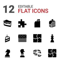 Piece icons vector