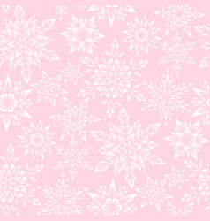 pink snowflakes pattern vector image