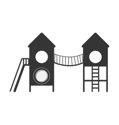 Playground with bridge and stairs vector