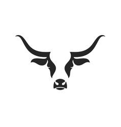scottish highland cow logo vector image