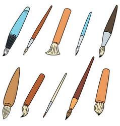 set of brush vector image
