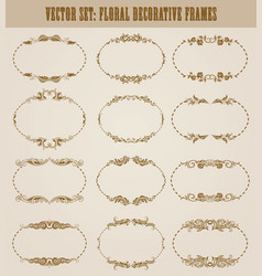 set of decorative hand drawn elements vector image