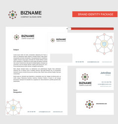 Sheild protected business letterhead envelope and vector
