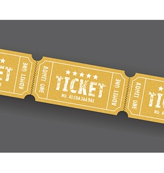 single tickets vector image