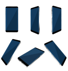 Smartphone realistic set vector