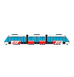 Speed intercity train flat isolated vector