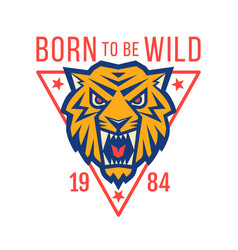 Sport logo with head od a tiger vector