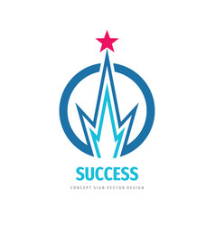 success - logo template concept vector image