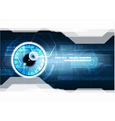 Technological eye scanning hud security vector
