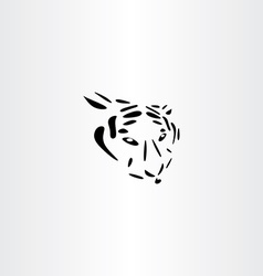 tiger icon design vector image