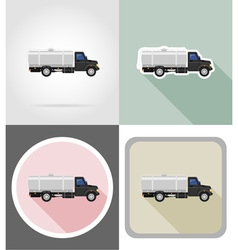 truck flat icons 04 vector image
