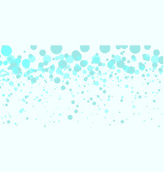 turquoise bubbles abstract background vector image