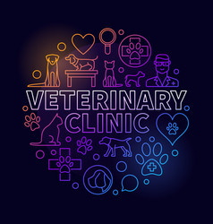 Veterinary clinic colorful vector