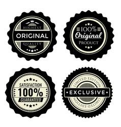 Vintage badges set collection premium design vector