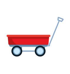 Wagon icon cartoon vector