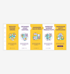 Warehouse service onboarding template vector