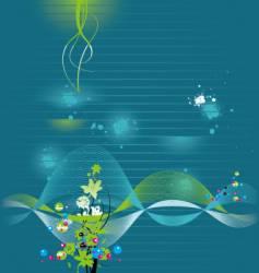 water wallpaper vector image vector image