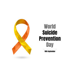 world suicide prevention day for web and print vector image