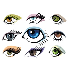 Collection of eye icons vector image