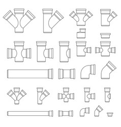 pipes and fittings vector image vector image