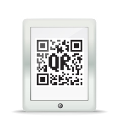 QR code in a maderd gadget vector image