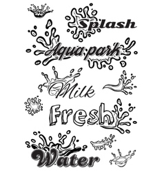 set template with elements of the water for vector image vector image