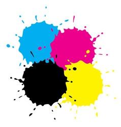 Cmyk Grunge Spots vector image