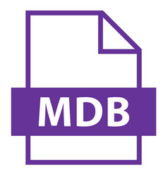 file name extension mdb type vector image vector image