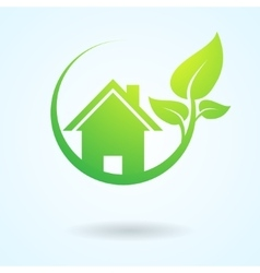 Green nature real estate vector image