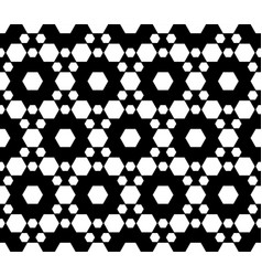 ornamental seamless pattern texture with hexagons vector image vector image