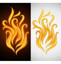 burning vector image vector image