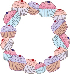 cake frame vector image vector image
