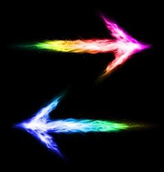 Colorful blazing arrows vector image vector image