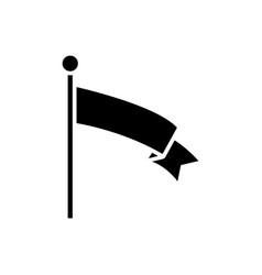 flag of achievement icon vector image